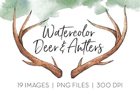deer antlers clipart icons creative market