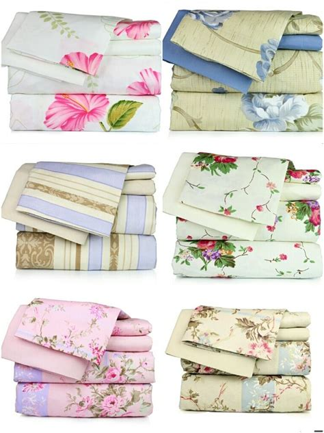 super soft luxury floral  piece bed sheet set