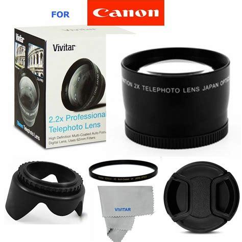 2x tele converter lens accessories for canon eos rebel dslr cameras t3 t3i t4 ebay