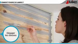 Peinture Pour Lambris : comment peindre du lambris peintures julien youtube ~ Melissatoandfro.com Idées de Décoration