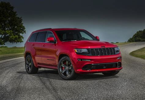 srt jeep red 2015 jeep grand cherokee srt revealed more power