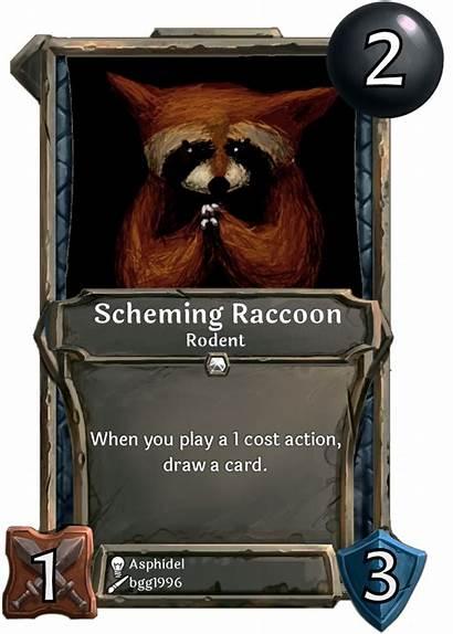 Card Scheming Raccoon Week