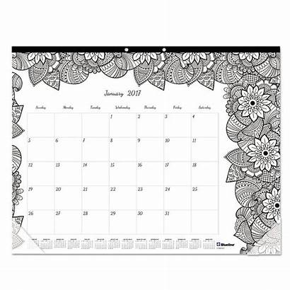 Calendar Desk Coloring Pad Pages December January