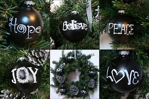 Ballard Designs Christmas Ornaments Chalkboard Silver Pinecone Ornaments
