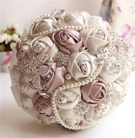 2017 Ivory White Bridal Wedding Bouquet De Mariage Pearls