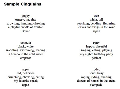 cinquain poem template ms cox s for a thought october 2012