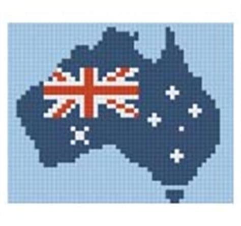 australian flag and map 1 baseplate pixelhobby kit