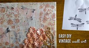 Vintage wall art made easy diy mixed media canvas joy
