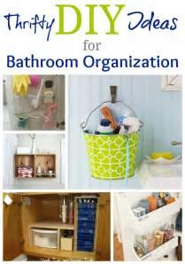 real life bathroom organization ideas