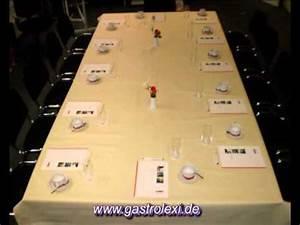 Tisch Eindecken Gastronomie : gedecke konferenztafel youtube ~ Heinz-duthel.com Haus und Dekorationen