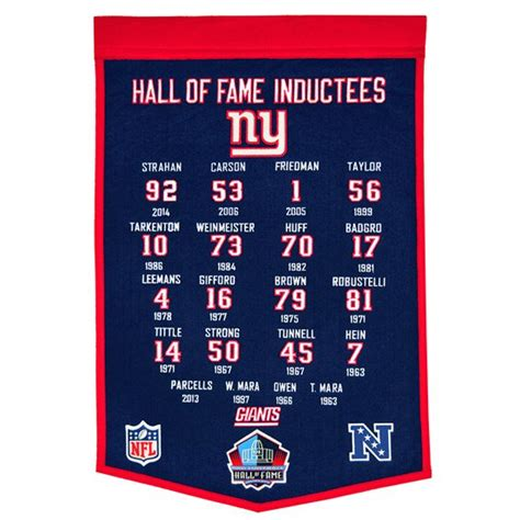 giants enshrinee banner pro football hall  fame
