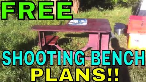 plans  build   diy portable shooting bench