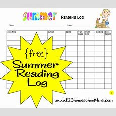 Free Summer Reading Log And Reading Incentive Ideas  Free Homeschool Deals
