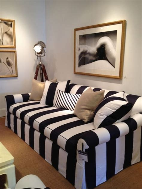 Sofa Black And White by Black White Striped Sofa
