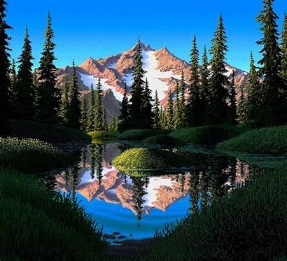 Pixel Lake Mirror Mark Colorful Ferrari Nature