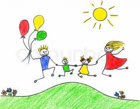 Children Happy Kids Drawings