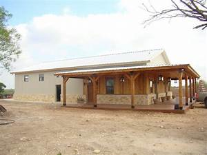 metal building home w wooden cover up porch 9 pictures With building a shop house