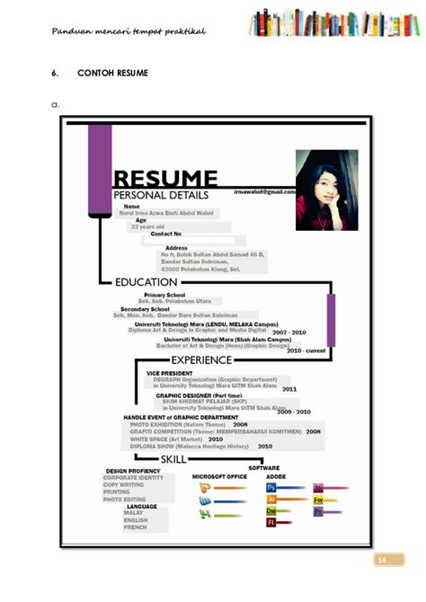 Cara Resume by Cara Membuat Cv Pictures Inspirational Pictures