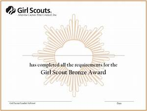 girl scout certificate templates download free premium With girl scout award certificate templates