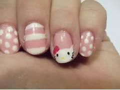 Hello Kitty Nail Desig...