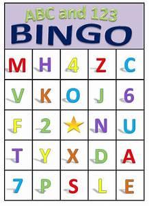 abc 123 bingo for preschoolers printable download With letter bingo game