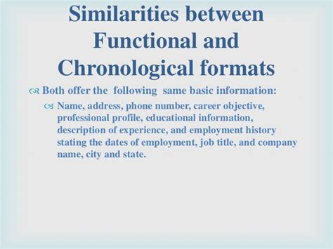 Non Traditional Resume Definition by Functional And Chronological Resume Difference
