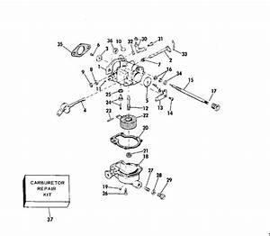 Evinrude Carburetor Parts For 1975 6hp 6504r Outboard Motor