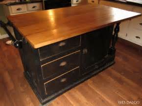 kitchen islands with butcher block top black reclaimed antique cupboard base kitchen island with drop leaf butcher block top from wes