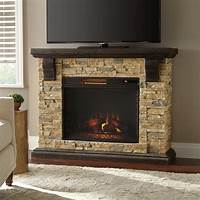 electric stone fireplace Home Decorators Collection Highland 50 in. Faux Stone ...