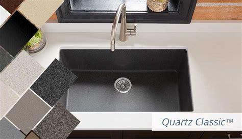 White Kitchen Design Ideas - elkay quartz kitchen sinks bold granite colors sleek luxe and classic style