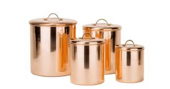 kitchen canisters and jars international 4 polished copper canister