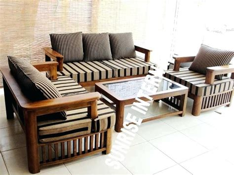 Sofa Set Designs For Small Living Room by Simple Wooden Sofa Sets For Living Room Wood Sofa Set