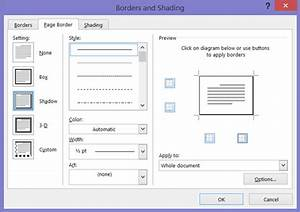 How to Add a Border to a Page in Word 2016 dummies