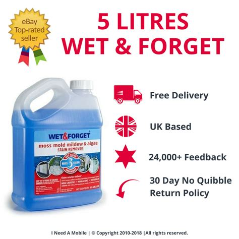 litres wet forget mould lichen algae remover