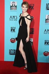 """Emma Roberts in Saint Laurent at the """"American Horror ..."""