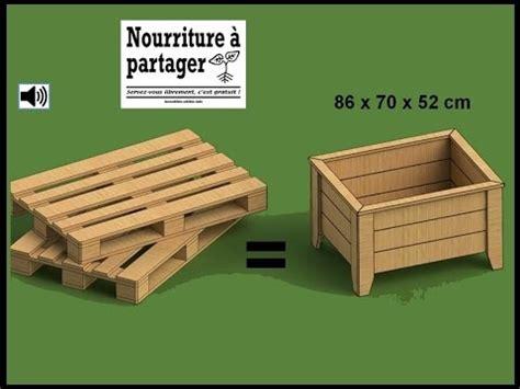fabriquer chaise en bois tuto fabriquer un bac à jardiner en bois de palette incroyables comestibles