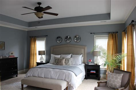 Benjamin Moore Gull Wing Grey Walls. Great Master Bedroom