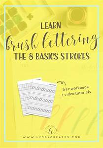 learn brush pen calligraphy the basic 8 strokes With learn brush lettering
