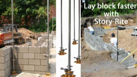 How To Lay A Masonry Block Foundation Fast  Youtube