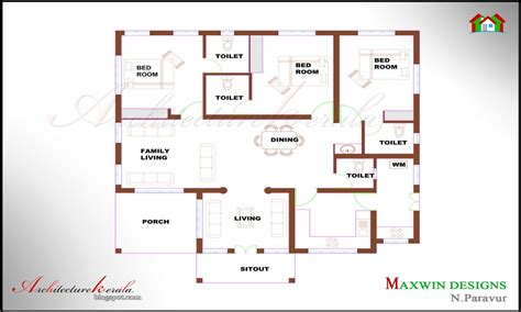 bedroom ranch house plans  bedroom house plans kerala