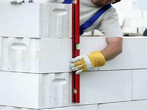 comment monter une cloison en beton cellulaire leroy With comment monter une cloison en carreau de platre