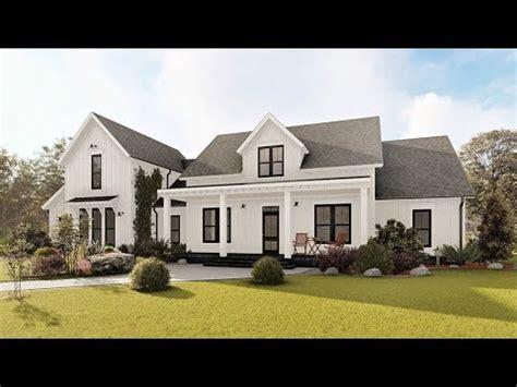 modern farmhouse house plan    interior youtube