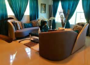 brown decorating ideas brown living room decorating ideas with teal curtain