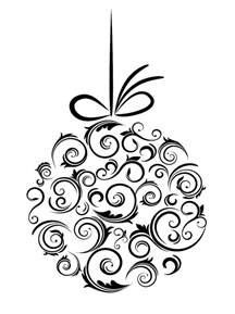 black and white christmas ornaments black and whit christmas arabesque and line art