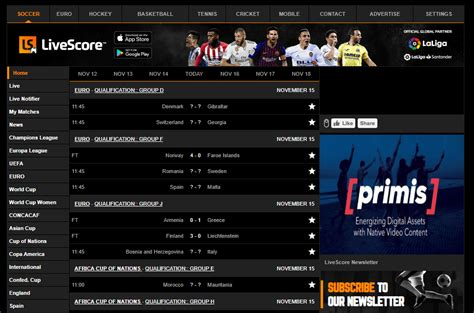 Top 5 Best Sites for Real-Time Soccer/Football Scores (in ...