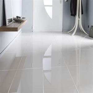 carrelage sol et mur blanc effet uni crystal l30 x l60 With porte d entrée pvc avec faience salle de bain blanc mat