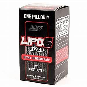 Lipo 6 Black Ultra Concentrate Fat Destroyer 60 Capsules