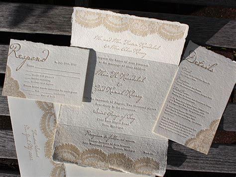 Rustic, Vintage Lace Wedding Invitations