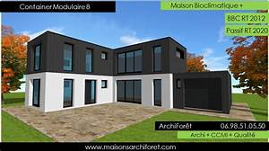 container modulaire photo maison modulaire architecte plan With marvelous photo maison toit plat 12 carports b251chers