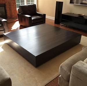 buy a hand made ultra modern large coffee table with pull With oversized modern coffee table